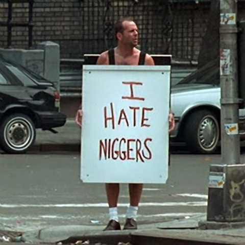 """""""Go to Harlem wearing this sign. I'm just going to hope nobody murders you within seconds since I spent weeks setting up jugs of water and other bullshit"""""""